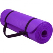 GENERIC 10 MM Extra Thick Yoga and Exercise MAT with Carrying Strap (Color May Vary)