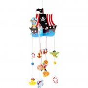 Small Foot Hangdecoratie mobiel piratenschip 85 cm