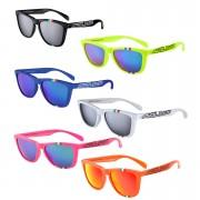 Salice 3047 ITA Casual Sunglasses - One Size - Fluorescent Fuchsia/Blue