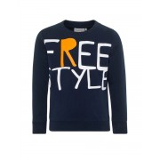 NAME IT Letter Printed Long Sleeved Blouse Navy