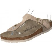 Birkenstock Gizeh Washed Metallic Rose Gold, Skor, Sneakers & Sportskor, Sneakers, Brun, Dam, 40