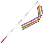 Лента За Художествена Гимнастика Голяма Цветна Дъга