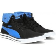 Puma Carme Mid IDP Mid Ankle Sneakers For Men(Black, Blue)