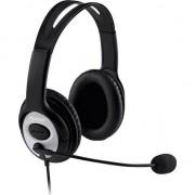 Casti cu microfon Microsoft LifeChat LX-3000, USB, Negru