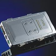 KVM SWITCH, ROLINE Pocket, aвтоматичен, 1x User към 4x PCs, пластмасов, без захранване (14.99.3294)