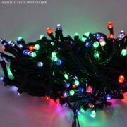 Diwali Decorative 15 Meter forsted (20no./95) LED String Lights Serial Bulbs - Multi Color