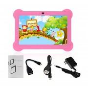 EY Q88 Niños Tablet De 7 Pulgadas, 512 MB De +8GB US Plug Kids Pad El Aprendizaje De Los Alumnos-Rosa