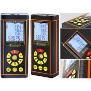 HOLDPEAK 5080H Digitális lézeres távolságmérő 0.03-80m memória többsoros LCD-kijelző IP54.