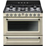 Cucina libera installazione Smeg TR90P9 90*60 Mod. Victoria colore panna classe A