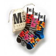 MrD London [3 Pack] Floral Socks B17-001B