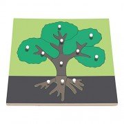 Panel puzzle early childhood educational toys, tree panels