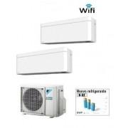 Daikin Climatizzatore Dual Stylish White 2mxm50m9 + Ftxa25aw + Ftxa42aw Wi-Fi 9+15