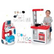 Smoby set cărucior medical electronic și bucătărie de jucărie Bon Appétit electronică 340202-5