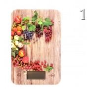 Digitális Konyhai mérleg 5kg gyümölcsös 15x23cm DH2000260 3féle típusban