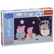 Peppa Pig Trip To The Moon, 60 Pieces Maxi Jigsaw Puzzle By Trefl