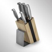 Set cutite in suport de lemn
