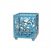 Spiru Metalen Theelicht houder Blauw - Ganesha