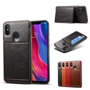 Bakeey PU Leather & Silicone Card Slot Protective Case For Xiaomi Mi8 Mi 8