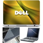 Finearts Laptop Skin Dell World Leader With Screen Guard And Key Protector - Size 15.6 Inch