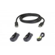 Kit cavo KVM di sicurezza schermo doppio USB DisplayPort da 1,8 M