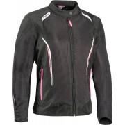 Ixon Cool Air-C Kära motorcykel textil jacka 6XL Svart Vit Rosa