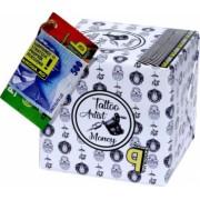 Pusculita Noua Tattoo Artist Money cutie decorativa carton multicolor lucrata manual 12x12x12cm