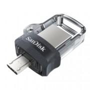 32GB USB Flash Drive, SanDisk Ultra Dual Drive m3.0, USB 3.0, micro USB, сива