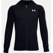 Under Armour Boys' UA Rival Cotton Full Zip Hoodie Black YSM