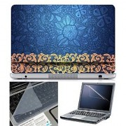 FineArts Laptop Skin Abstract Series 1062 With Screen Guard and Key Protector - Size 15.6 inch