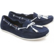 Clarks Hammond Buzz Women Suede Loafers For Women(Blue, White)