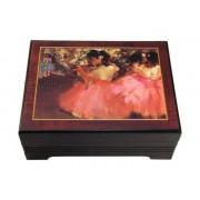 Böhme Musikspieluhren Bildschatulle Ballettprobe von Edgar Degas mit Spieluhr
