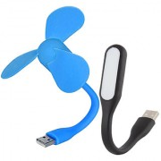 Sunshopping USB fan and LED light combo pack (Assorted colours)