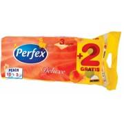 Hartie igienica 3 straturi color De Luxe piersica 10 role/set Perfex