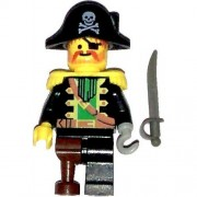 LEGO Pirates Minifig Captain Red Beard with Pirate Hat