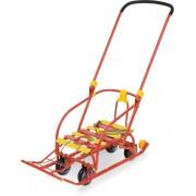 Санки Nikki 3 с механизмом выдвижных колесных шасси, красный N3/К