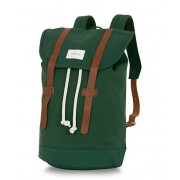 Sandqvist Stig 100% Organic Cotton Canvas Backpack Forest Green