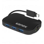 Kanex USB-C Hub - Ethernet адаптер и 3-портов USB хъб (разклонител) от USB-C към USB-A за MacBook 12 и компютри с USB-C порт (черен)