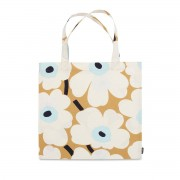 Marimekko - Pieni Unikko Einkaufstasche, weiß / beige / blau