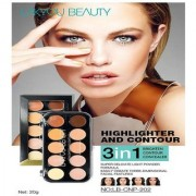Lakyou Beauty Highlighter Cream Concealer Contour Perfect Make-up 3 in 1 20 gm