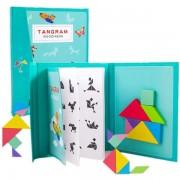 Joc educativ Tangram Carte magnetica, Material Montessori.