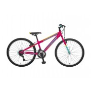 """Booster Turbo 240 MTB Junior 24"""" Pink-turquoise (B240S02185)"""