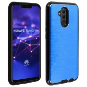 Avizar Capa de Alumínio/Silicone Azul para Huawei Mate 20 Lite