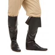 Deguisetoi Sur-bottes noires simili cuir adulte