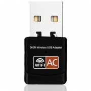 ER 600Mbps Tarjeta De Red Inalámbrica De Banda Dual Equipo Mini Adaptador WiFi USB -Negro