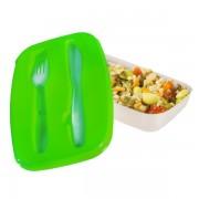 Cutie Pranz cu Tacamuri din Plastic