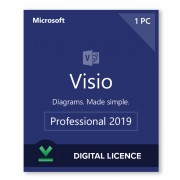 Microsoft Visio 2019 Professional Digital Licence