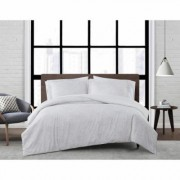 London Fog Sasha Paisley Multi-Colored Full/Queen 3-Piece Comforter Set, White and Neutral