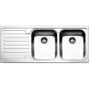 apell Ve1162ilbc Lavello Cucina 2 Vasche Incasso Con Gocciolatoio Sx Larghezza 116 Cm Materiale Acciaio Inox Finitura Spazzolata - Ve1162ilbc Serie Venezia