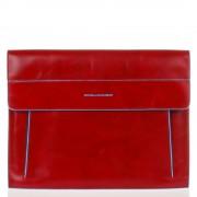 Piquadro Porta iPad con Tracolla linea Blue Square In Pelle Rossa AC3151B2