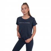 Tommy Hilfiger Dámské tričko Tommy Hilfiger tmavě modré (UW0UW01618 416) XS